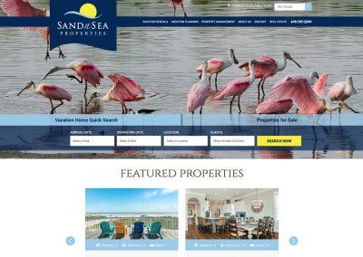 Sand n Sea Website Homepage