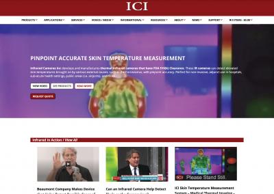 ICI Homepage screen