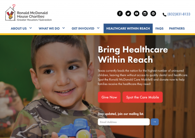 RMHC Homepage Screen